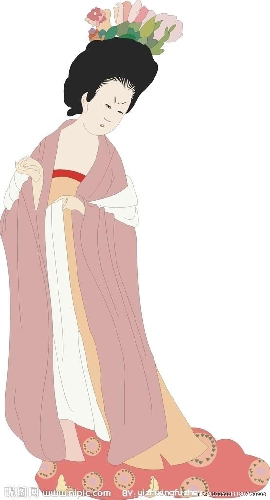 经常翻阅画册,不期然地发现了一个有趣的现象:历代仕女图所画的美女,全都是单眼皮,双眼皮的一个也没看到。   这是为什么?我开始思索。单眼皮是蒙古人种的特征之一,其起因是由于上眼睑的上方脂肪较多,形成一道褶襞,将上眼睑盖住。这样看来,古代的汉人是纯系的蒙古人种啰?