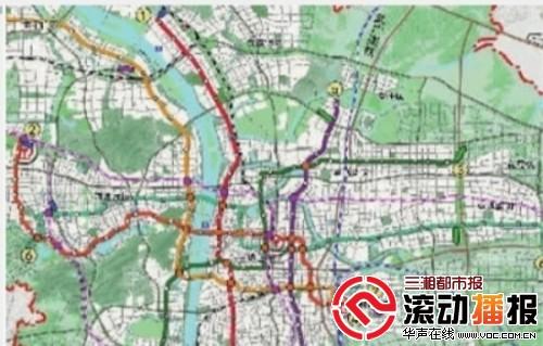 长沙市城市轨道交通近期建设规划图.-长沙加快实施居民收入倍增计划