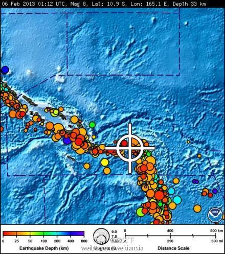 【所罗门群岛发生里氏8级地震多国发布海啸