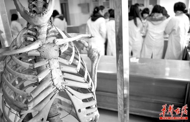 湘雅医学院解剖实验室课堂,动手解剖前,学生都会站好,脱帽、默哀,向遗体致敬。实习记者 李健 摄   核心提示   为期三年的器官移植试点终于要在全国全面铺开了。2月25日,全国人体器官捐献工作视频会上传来消息,从本月开始,人体器官捐献将从之前的19个试点省份扩展到全国所有省份。人体器官捐献志愿者的信息,将实现全国联网。   据悉,湖南自试点以来,已实现59例器官捐献,虽数量不多,但居全国前列,已挽救了140条生命。   更多的人在苦等绝境生机。割肝救子、捐肾救亲为何屡见?