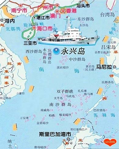 中国跟越南地图