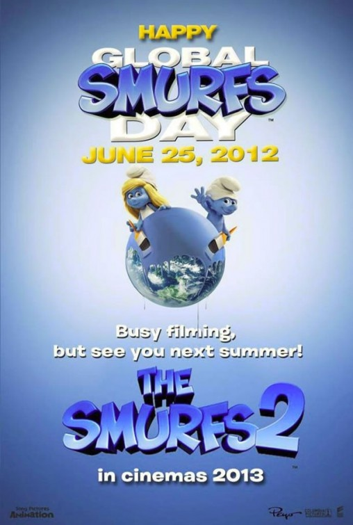 《蓝精灵2》宣传海报