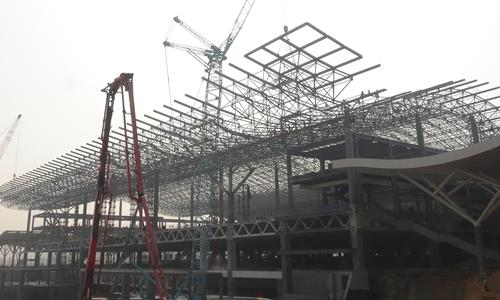 沪昆高铁长沙南站主体结构竣工