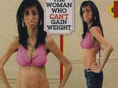 零脂肪女孩网络走红 体重54斤