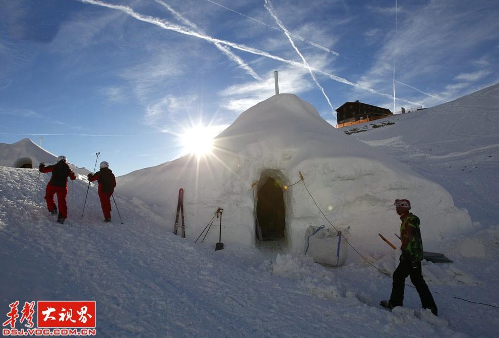 不可思议!德国山顶上的人造冰屋[16P]