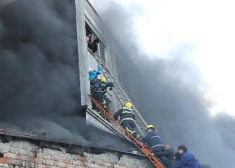 浙江温岭一工厂发生火灾已造成16人遇难