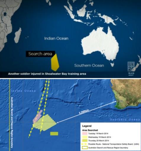 澳大利亚的飞机在珀斯西南3000公里以外
