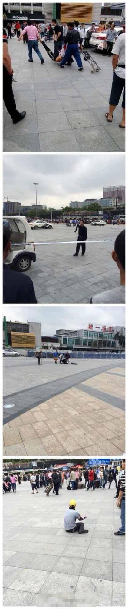 广州火车站4人持刀砍人 2名施暴者疑似逃跑