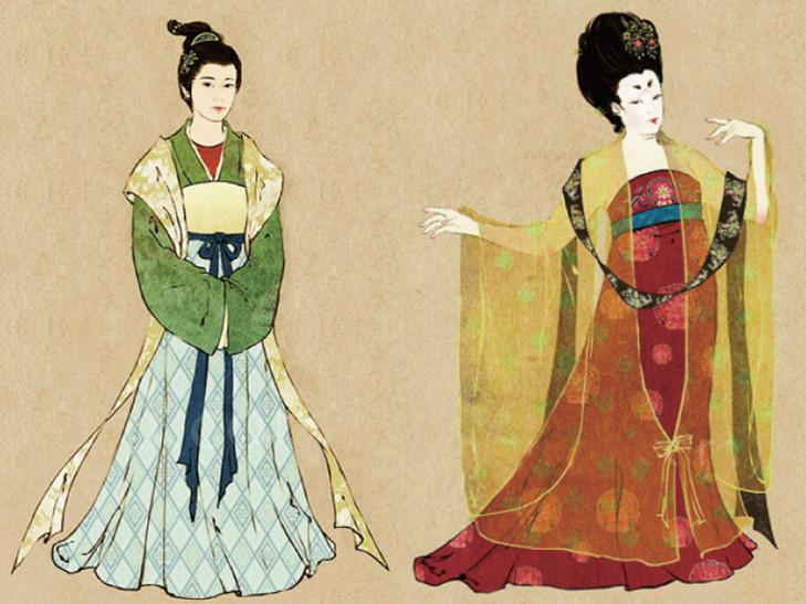 女装紧身款式图手绘