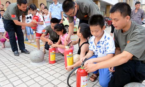 儿童开展暑期消防演练 - 新闻 - 湖南日报网