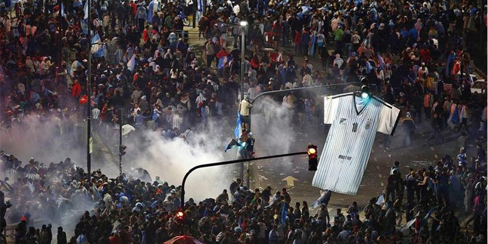 阿根廷世界杯决赛败北 首都球迷闹事引发暴力骚乱