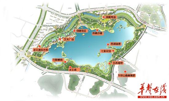 杭州西湖景区平面图