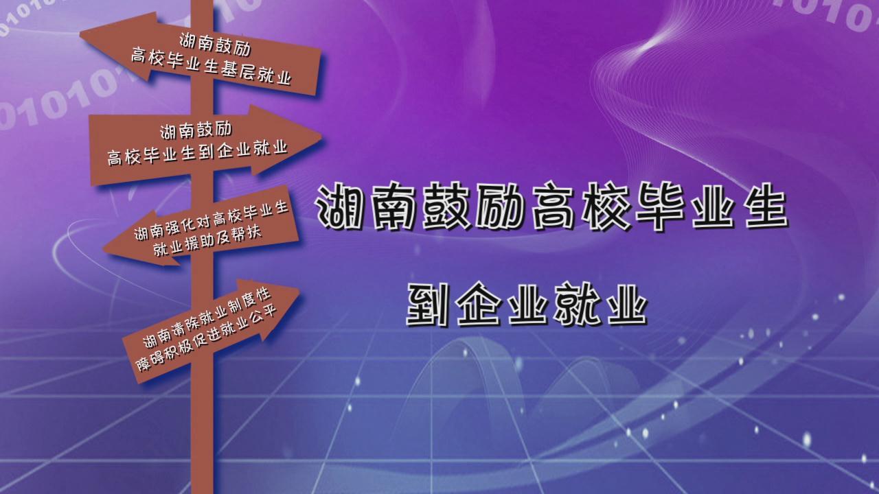 """动""""话""""就业——湖南省高校毕业生创业就业政策解读宣传片"""