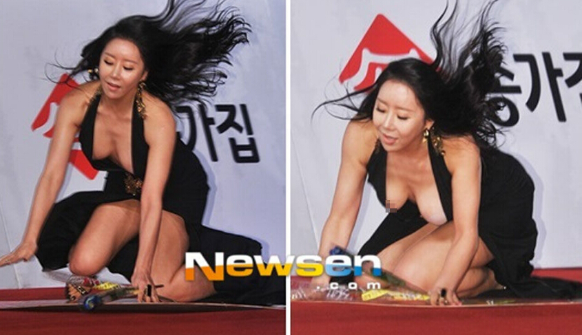 盘点韩国女星红毯尴尬瞬间