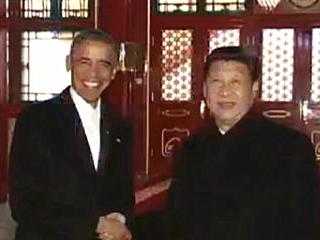 习近平同奥巴马在中南海开始会晤