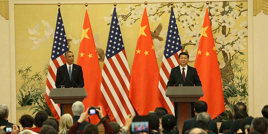 习近平与奥巴马共同会见记者