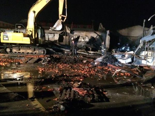山东寿光一食品厂火灾致18人死亡