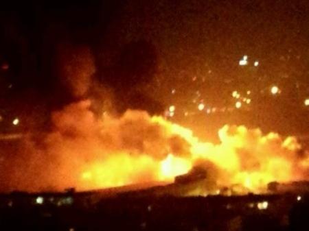 大连一液化气站爆炸引发大火
