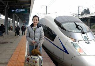 沪昆高铁长怀段通车 美女回程缩短6小时