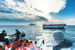 利比亚非法移民船在地中海沉没