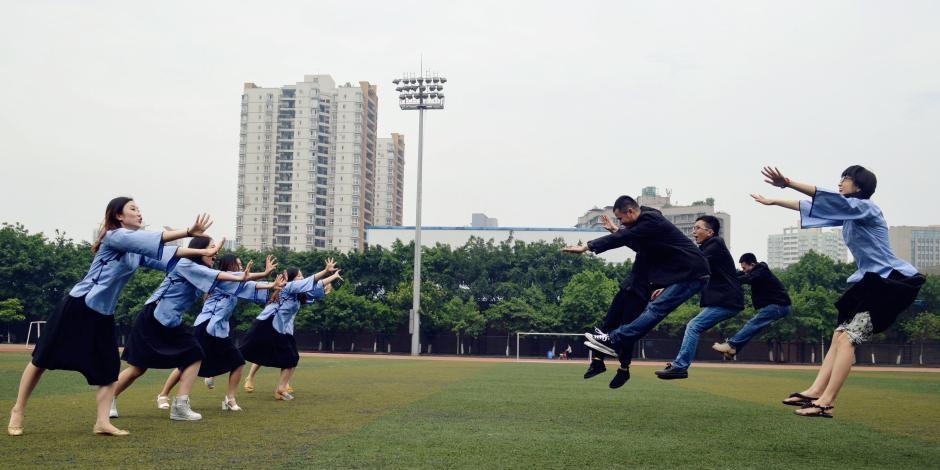 """重庆大学生拍""""民国风""""毕业照记录校园生活图片"""