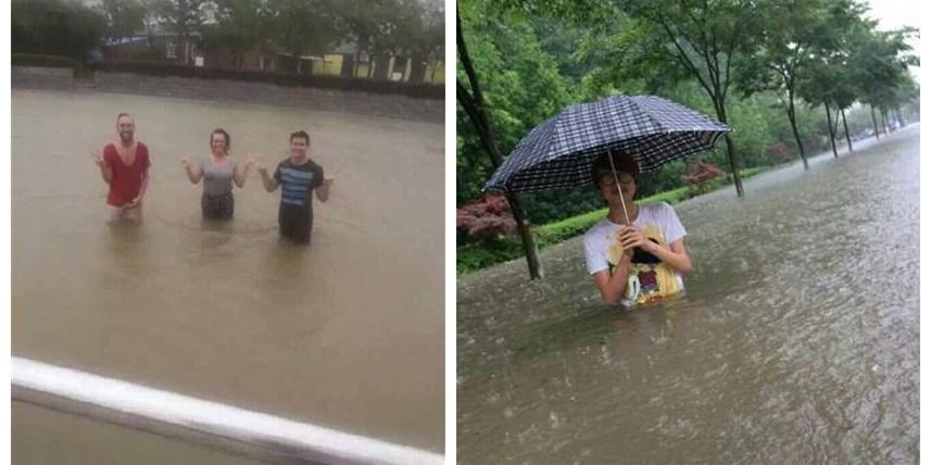 """南京遭暴雨""""袭""""城 老天倒下100多个玄武湖"""