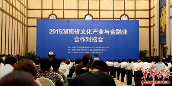 2015湖南文化产业对接金融业 18个项目签约207亿元