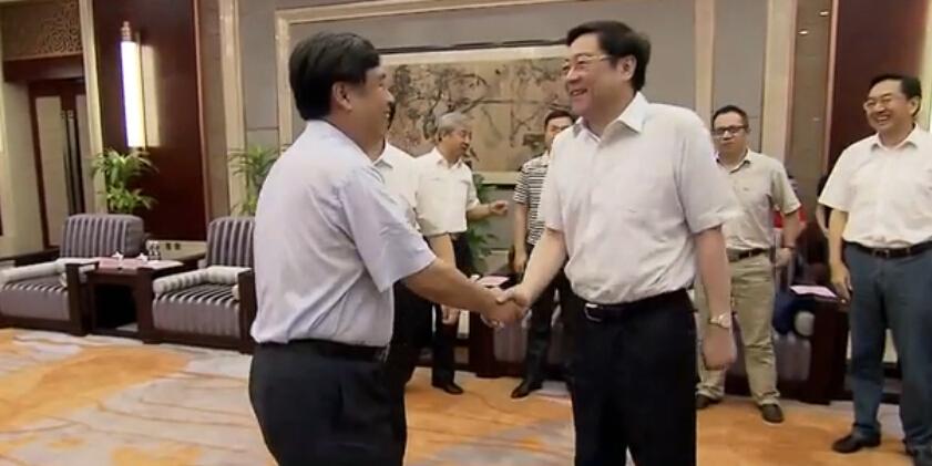 杜家毫会见山西省委常委、副省长付建华
