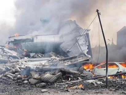 印尼军机在居民住宅区坠毁 机上113人全遇难