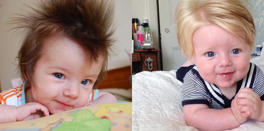 父母追逐潮流晒宝宝个性发型 喜感又可爱
