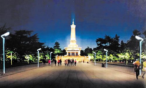 长沙烈士公园烈士塔拟采用led泛光灯等方式亮化