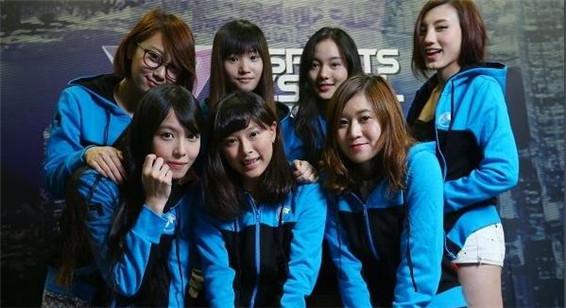 香港七美女组成女子战队