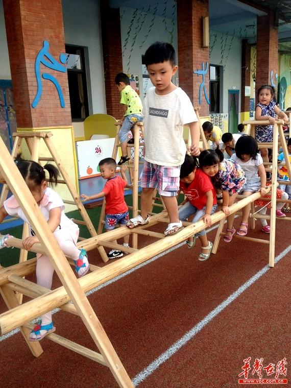长沙青竹湖幼儿园引进安吉游戏 培养孩子自主