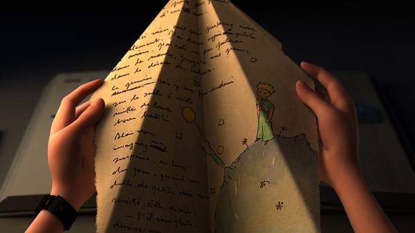 画着小王子的纸飞机