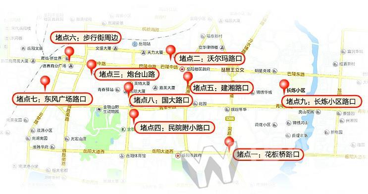 青岛市市南区地图(岳阳路)