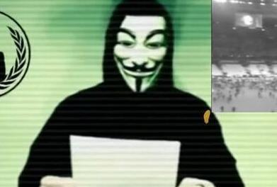 """黑客组织""""匿名者""""向IS宣战 誓不放过恐怖分子"""