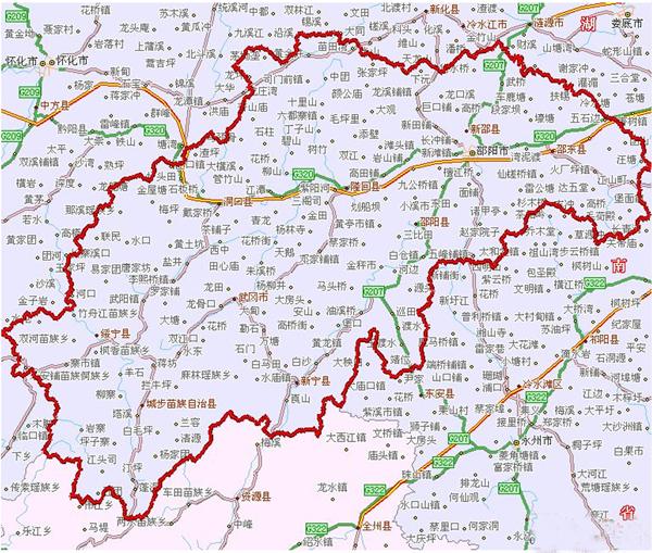 城步南山风景区地图