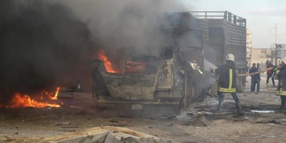 疑俄军空袭土耳其运输车队致7死10伤