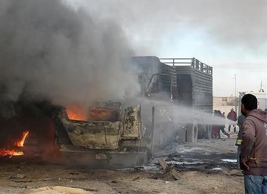 土媒:俄空袭叙阿勒颇 土耳其救援车队被俄战机炸毁