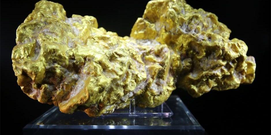 2015中国国际珠宝展开展 世界最大自然金亮相
