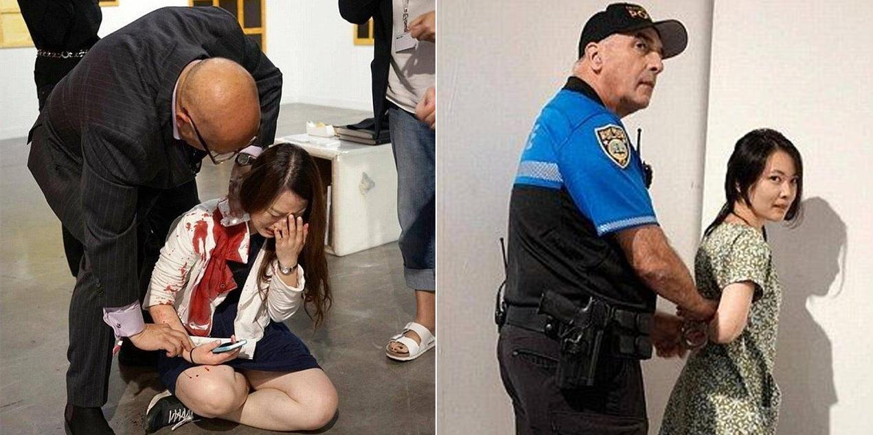 女子英国艺术馆内被刺伤 围观者误以为是行为艺术未相助