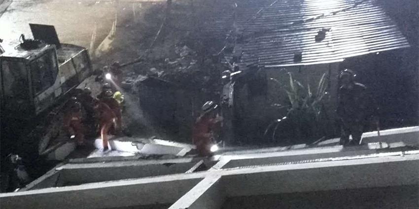 深圳山体滑坡现场 11支消防队救援不停歇