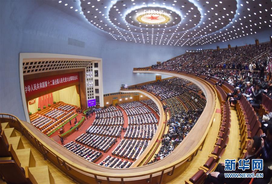 (两会·人大开幕)(10)十二届全国人大四次会议在京开幕
