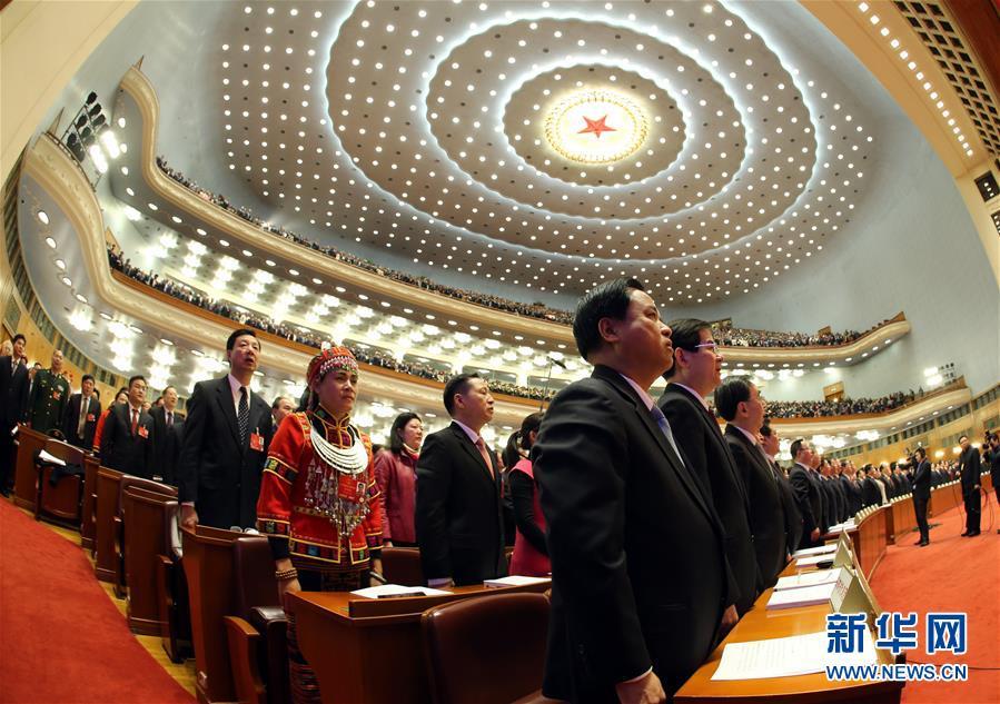 (两会·人大开幕)(13)十二届全国人大四次会议在京开幕