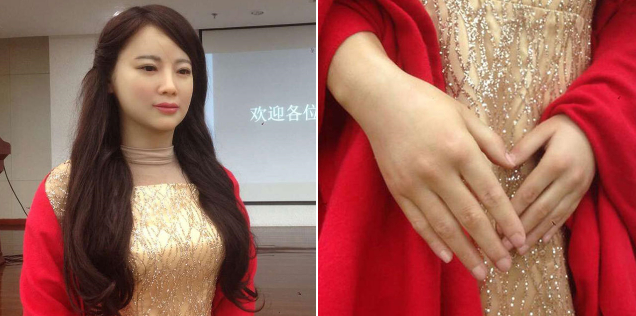 中国首台特有体验交互机器人问世 形象美品格佳