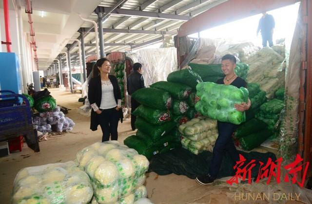 长沙海吉星农产品物流园商户喜迎开门红 新湖南客户端记者 范远志