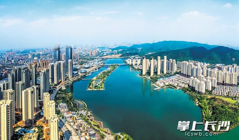 湖南湘江新区空间结构规划图