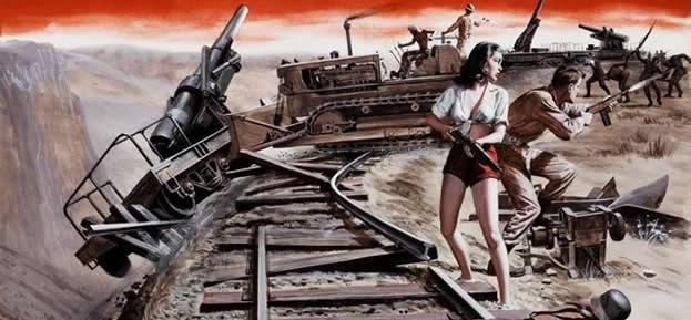 二战性感美女战斗插画
