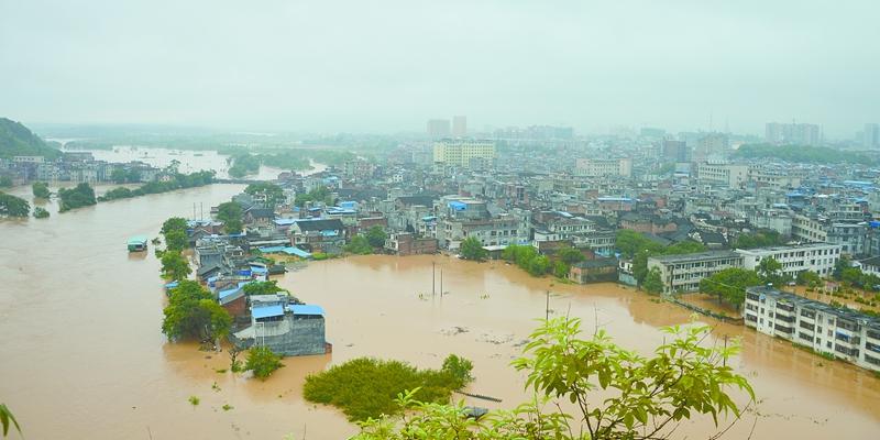 江华瑶族自治县遭暴雨袭城