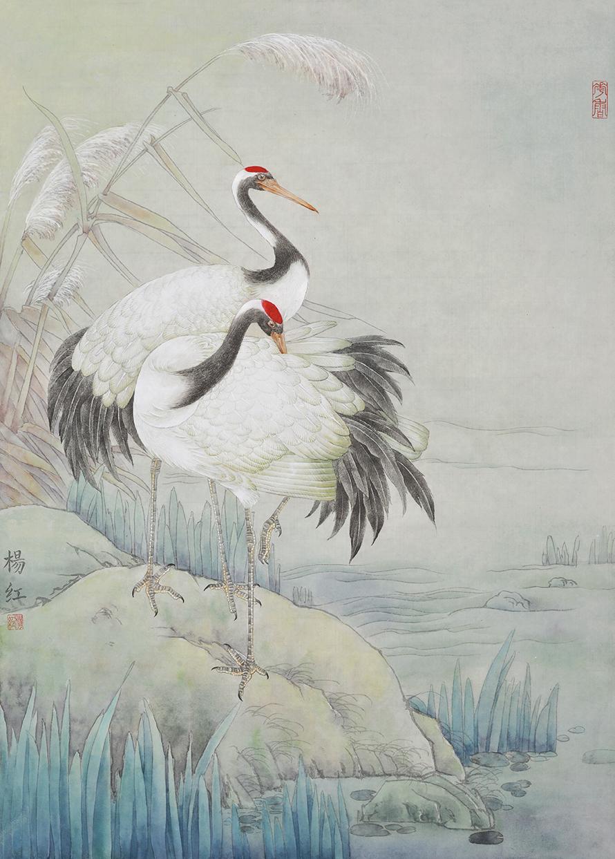 杨红的工笔画丨湖光山色的灵气
